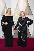 Eva Marie Saint and guest arrive on the red carpet of The 90th Oscars&reg; at the Dolby&reg; Theatre in Hollywood, CA on Sunday, March 4, 2018.<br /> *Editorial Use Only*<br /> CAP/PLF/AMPAS<br /> Supplied by Capital Pictures
