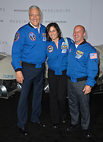 Astronauts Michael Massimino, Nicole Stott &amp; Garrett Reisman at the world premiere of &quot;Passengers&quot; at the Regency Village Theatre, Westwood. <br /> December 14, 2016<br /> Picture: Paul Smith/Featureflash/SilverHub 0208 004 5359/ 07711 972644 Editors@silverhubmedia.com