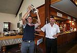 Jim Cusdin wins the Jennian Home tour trophy during the Autex Muriwai Open, Muriwai Golf Club, Auckland, Sunday 1 May 2016. Photo: Simon Watts/www.bwmedia.co.nz