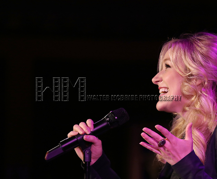 Betsy Wolfe performs a press preview of 'The Last 5 Years in Concert'  at 54 Below on September 23, 2013 in New York City.