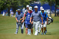 Chez Reavie (USA) leads the pack down 1 during Round 2 of the Zurich Classic of New Orl, TPC Louisiana, Avondale, Louisiana, USA. 4/27/2018.<br /> Picture: Golffile | Ken Murray<br /> <br /> <br /> All photo usage must carry mandatory copyright credit (&copy; Golffile | Ken Murray)