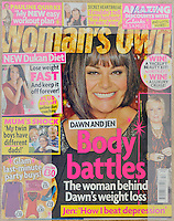 Woman's Own Magazine<br /> Dawn French by CAN<br /> 40927<br /> tearsheet
