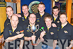 The Squires team that beat the Tatler Jack team in the Killarney town Darts League Final in the Laune bar last weekend l-r: Matt Lucey, John Cronin, Con Cremin, Liam O'Reilly Captain, Adam O'Reilly, James Cremin, Eamon Carey and Tomas McGrath