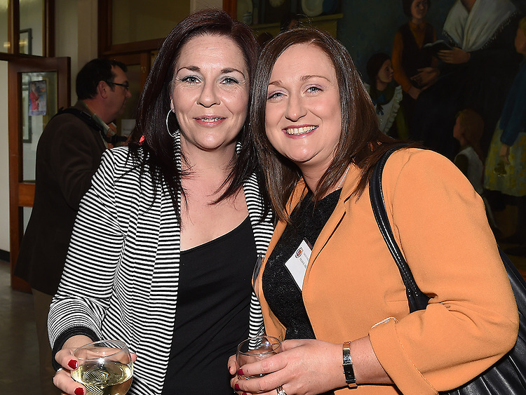 Lynn McCormack and Olive McCullough pictured at the Class of 1994 reunion at Our Lady's College Greenhills. Photo:Colin Bell/pressphotos.ie