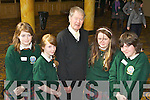 Ceiliuradh na nOg, a youth celebration project, an initiative of the Diocese of Kerry held magic workshops in the Brandon Hotel on Thursday. Students from Killorglin Community College with Micheal O Muircheartaigh, from left: Tara O'Connor, Antonia O'Flaherty, Makiyla O'Brien and Shannon Kennedy.