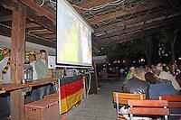 Anspannung im Biergarten an der Dieburger Straße