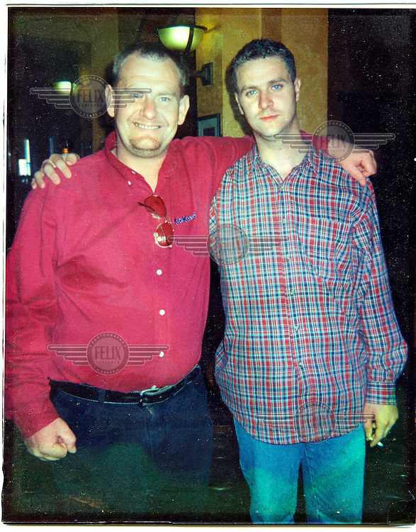 Henry photographed with his friend Tommy English who visited him while he was on the run. Tommy was later killed by the Ulster Volunteer Force (UVF) during a Loyalist feud in 2000.
