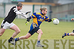 Spa's Pa Murphy and Maynooth's Niall Haughton.