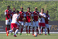 "Carson, Calif. - Thursday, July 16, 2015: U-16 New York Red Bulls vs Georgia United during playoffs at the 2014-15 US Soccer Development Academy Finals week at Glenn ""Mooch"" Myernick Field at StubHub Center."
