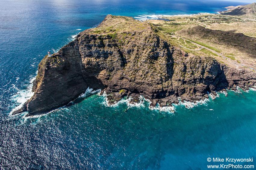 Aerial view of Makapuu Point, Oahu