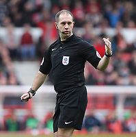 Referee Jeremy Simpson<br /> <br /> Photographer Mick Walker/CameraSport<br /> <br /> The EFL Sky Bet Championship - Nottingham Forest v Derby County - Sunday 11th March 2018 - The City Ground - Nottingham<br /> <br /> World Copyright &copy; 2018 CameraSport. All rights reserved. 43 Linden Ave. Countesthorpe. Leicester. England. LE8 5PG - Tel: +44 (0) 116 277 4147 - admin@camerasport.com - www.camerasport.com