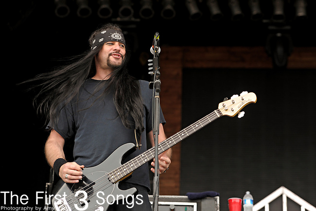 Dave Novotny of Saliva performs during day two of the 2011 Rock Fest on July 15, 2011 in Cadott, Wisconsin.