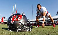 TAMPA, FLORIDA - August 3, 2012: Dallas Clark of the Tampa Bay Buccaneers on August 3, 2012 at One Buccaneer Place. Photo by Matt May/Tampa Bay Buccaneers
