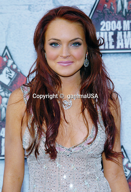 Lindsay Lohan arriving at the 2004 MTV Movie Awards on the Sony Studio Lot in Los Angeles. June 5, 2004.