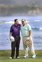 160211 Connecticut's JJ Henry with ESPN Icon Chris Berman during Thursday's First  Round at The AT&T National Pro Am at The Pebble Beach Golf Links in Carmel, California. (photo credit : kenneth e. dennis/kendennisphoto.com)