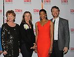 One Life To Live's Renee Elise Goldsberry poses with the cast Becky Ann Baker, Frances McDormand and Tate Donovan - Opening Night of Broadway's Good People on March 3, 2011 at the Samuel J. Friedman Theatre, New York City, New York with the after party was at B.B. Kings, NYC. (Photo by Sue Coflin/Max Photos)