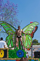 Colorful Green Male Butterfly, LA Pride 2010 West Hollywood, CA Parade