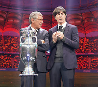 Nationaltrainer Gruppe F: Nationaltrainer Fernando Santos (Portugal), Bundestrainer Joachim Loew (Deutschland Germany) - 30.11.2019: UEFA EURO2020 Auslosung, Romexpo Bukarest, DISCLAIMER: UEFA regulations prohibit any use of photographs as image sequences and/or quasi-video.