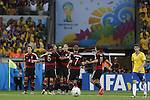 Germany team group, JULY 8, 2014 - Football / Soccer : Germany players celebrate after Thomas Mueller's opening goal during the FIFA World Cup Brazil 2014 Semi Final match between Brazil and Germany at the Estadio Mineirao in Belo Horizonte, Brazil. (Photo by AFLO) [3604]