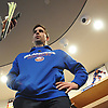 John Tavares speaks with the media after New York Islanders player exit interviews with management at Northwell Health Ice Center in East Meadow on Monday, April 9, 2018. He will enter the offseason eligible to become an unrestricted free agent.