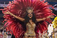 SÃO PAULO, SP, 09.03.2019 - CARNAVAL-SP - Integrante da escola de samba Estrela do Terceiro Milênio durante Desfile das Campeãs do Carnaval de São Paulo, no Sambódromo do Anhembi em Sao Paulo, na madrugada deste sábado, 09. (Foto: Anderson Lira/Brazil Photo Press)