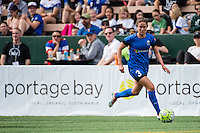 Seattle, Washington - Sunday, June 12, 2016: Seattle Reign FC defender Lauren Barnes (3) during a regular season National Women's Soccer League (NWSL) match at Memorial Stadium. Seattle won 1-0.