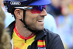 Alejandro Valverde of Spain before the Men Elite Road Race of the UCI World Championships 2019 running 280km from Leeds to Harrogate, England. 29th September 2019.<br /> Picture: Eoin Clarke | Cyclefile<br /> <br /> All photos usage must carry mandatory copyright credit (© Cyclefile | Eoin Clarke)