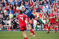 Kansas City, Mo. - Saturday April 23, 2016: FC Kansas City forward Shea Groom (2). FC Kansas City hosts Portland Thorns FC at Swope Soccer Village.