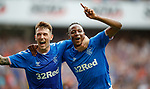 25.07.2019 Rangers v Progres Niederkorn: Joe Aribo celebrates his goal with Ryan Jack