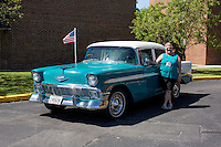 1956 Cruiser Class (#3C) – 1956 Chevrolet Bel Air 4-Door Sedan registered to Chuck and Sandy Engelman is pictured during 4th State Representative Chevy Show on Thursday, June 30, 2016, in Fort Wayne, Indiana. (Photo by James Brosher)