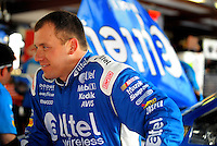 Apr 25, 2008; Talladega, AL, USA; NASCAR Sprint Cup Series driver Ryan Newman during practice for the Aarons 499 at Talladega Superspeedway. Mandatory Credit: Mark J. Rebilas-US PRESSWIRE