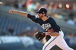 Reno Aces' Brandon McCarthy pitches against the Las Vegas 51s during a Triple-A baseball game in Reno, Nev., on Sunday, July 21, 2013. The 51s won 15-8.<br /> Photo by Cathleen Allison