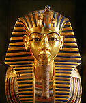 King Tutankhamun gold funerary mask, New Kingdom