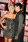 New York, New York  - September 13: Pink and Carey Hart arrive at the 2009 MTV Video Music Awards at Radio City Music Hall on September 13, 2009 in New York, New York.