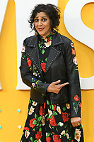 "LONDON, UK. June 18, 2019: Meera Syal arriving for the UK premiere of ""Yesterday"" at the Odeon Luxe, Leicester Square, London.<br /> Picture: Steve Vas/Featureflash"