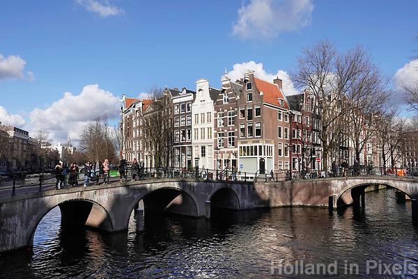Nederland Amsterdam - Februari 2019 . Kruising Leidsegracht en Keizersgracht. Foto Berlinda van Dam / Hollande Hoogte