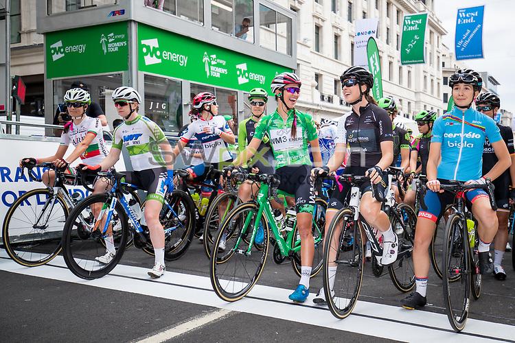 Picture by Alex Whitehead/SWpix.com - 11/06/2017 - Cycling - OVO Energy Women's Tour - Stage 5: The London Stage - Start. Katarzyna Niewiadoma