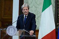 Roma, 18 Dicembre 2017<br /> Il Presidente del Consiglio Paolo Gentiloni<br /> Riqualificazione periferie, firma Governo Sindaci