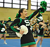 The Seaford varsity cheerleading squad performs during an eight-team competition held at Bethpage High School on Sunday, Jan. 22, 2017.