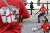 Roma, 31 Agosto 2012.Lavoratori Alcoa protestano a Montecitorio..