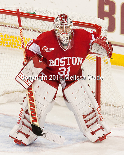 Erin O'Neil (BU - 31) - The Boston College Eagles defeated the visiting Boston University Terriers 5-3 (EN) on Friday, November 4, 2016, at Kelley Rink in Conte Forum in Chestnut Hill, Massachusetts.The Boston College Eagles defeated the visiting Boston University Terriers 5-3 (EN) on Friday, November 4, 2016, at Kelley Rink in Conte Forum in Chestnut Hill, Massachusetts.