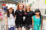 Roisin Abeyta, Grace O'Flaherty, Caoimhe Lyons and Tieanna Sheehy at the Kilflynn Fairy Festival on Sunday.