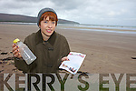 Blainthin Mac Donnell from Fermoyle, Castlegregory found a message in a bottle on the strand near her home recently.