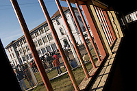 South America, Argentina, La Plata, Los Olmos. Freedom Behind Bars, Prison and Divinity - Unit 25 of Los Olmos Prison. Los Olmos Prison is one of the principal security prisons in Argentina. It hosts Unit 25, also known as Christ the Only Hope Prison Church, one of the largest prison churches worldwide. The transformation of criminals into the God fearing and leading them to the Lord has taken hold, not only in the lives of inmates, but also in inmate families and prison guards. Once the countries worst killers and thieves have since become spiritual leaders to other criminals, creating a revolutionary spiritual rehabilitation, July 2006 &copy; Stephen Blake Farrington<br />