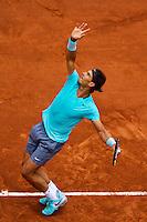 France, Paris, 26.05.2014. Tennis, Roland Garros, Rafael Nadal (ESP) in his match against Robby Ginepri (USA)<br /> Photo:Tennisimages/Henk Koster
