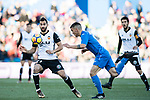 Martin Montoya Torralbo of Valencia CF in action during the La Liga 2017-18 match between Getafe CF and Valencia CF at Coliseum Alfonso Perez on December 3 2017 in Getafe, Spain. Photo by Diego Gonzalez / Power Sport Images