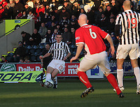 John McGinn plays the ball in the St Mirren v Brechin City William Hill Scottish Cup Round 4 match played at St Mirren Park, Paisley on 1.12.12.
