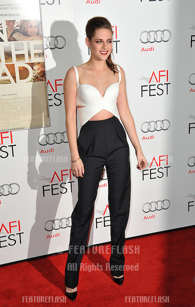 "Kristen Stewart at the AFI Fest premiere of her movie ""On The Road"" at Grauman's Chinese Theatre, Hollywood..November 3, 2012  Los Angeles, CA.Picture: Paul Smith / Featureflash"