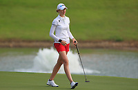 Nelly Korda (USA) in action on the 2nd during Round 3 of the HSBC Womens Champions 2018 at Sentosa Golf Club on the Saturday 3rd March 2018.<br /> Picture:  Thos Caffrey / www.golffile.ie<br /> <br /> All photo usage must carry mandatory copyright credit (&copy; Golffile | Thos Caffrey)