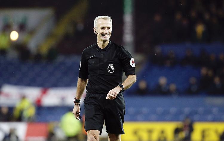 Referee Martin Atkinson<br /> <br /> Photographer Rich Linley/CameraSport<br /> <br /> The Premier League - Burnley v Brighton and Hove Albion - Saturday 8th December 2018 - Turf Moor - Burnley<br /> <br /> World Copyright © 2018 CameraSport. All rights reserved. 43 Linden Ave. Countesthorpe. Leicester. England. LE8 5PG - Tel: +44 (0) 116 277 4147 - admin@camerasport.com - www.camerasport.com